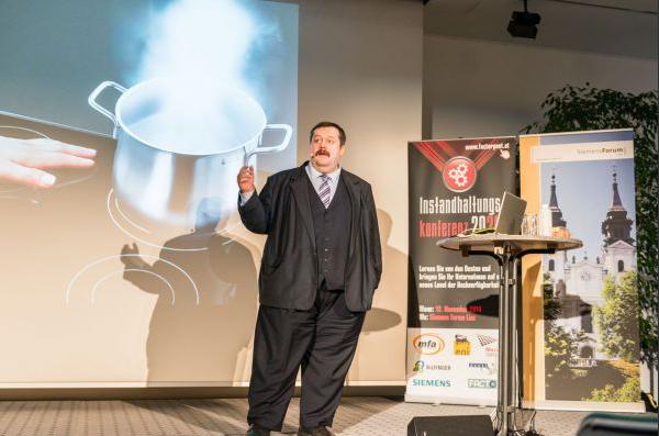 Physiker Werner Gruber bei der  Instandhaltungskonferenz 2014.